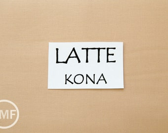 One Yard Latte Kona Cotton Solid Fabric from Robert Kaufman, K001-492