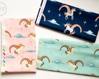 Unicorns and Rainbows Half Yard Bundle, 3 Pieces, Doohikey Designs, Riley Blake Designs, 100% Cotton Fabric, C3710