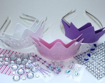 Princess Birthday Party Tiara Craft - DIY Tiaras (includes 6 tiaras) Bridal Shower Craft
