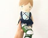 Landon: heirloom doll, cloth doll, handmade doll, rag doll, girl doll, boy doll