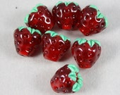 7 Strawberry beads (Item 160181)
