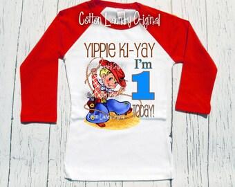 Birthday shirt cowboy western birthday party theme shirt, 1st 2nd 3rd or beyond birthday cowboy western tee