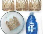 Gold Lace Crown || WASHABLE || Ready to Ship ||Sienna || MINI gold lace crown|| headband option|| photography prop || princess ||all ages