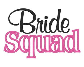 Bride Squad Tee Embroidery T shirt