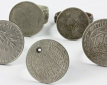 Old Coin Rings, Sold Individually, Morocco (BR005)