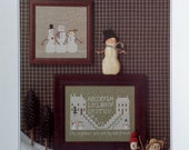 50% OFF The City Stitcher SIDE By SIDE Friends Snowman - Counted Cross Stitch Pattern Chart