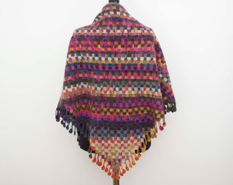 l crochet shawl scarf crocheted capelet wrap ,blanket scarf