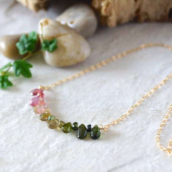 14k / Tourmaline necklace