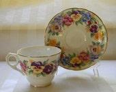 RESERVED - Vintage Royal Stafford, England Bone China Teacup, VIOLA