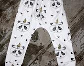 Toddler infant baby Harem Pants, organic cotton, PANDA Design, geometric design, baby leggings geometric fox 6 styles boys girls unisex