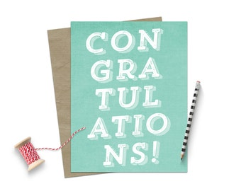 Congratulations Grad Card / Graduation Day Card / Grad Card / For Graduate / Funny Graduation Card / Graduation Congratulations / You Did It