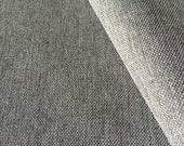 Newest Faux Linen Solid Upholstery Fabric. Soft hand- Extremely durable- Natural look-Washable - Color: WindChime- per yard