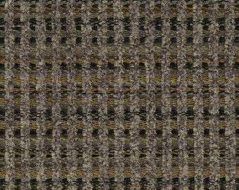 Woven Soft Striped Chenille Upholstery Fabric - Economical, Durable, Easy Clean - Color: Gable Taupe - Per yard