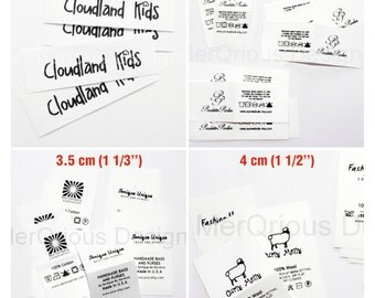 Nylon/ Care Labels. Clothing Labels. Personalized labels. Garment Labels. Name Tags. Sew in Labels. Fabric Labels. Custom Fabric Labels