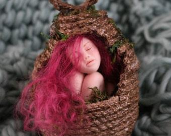 Ooak pixie pods minature fairy sculpture