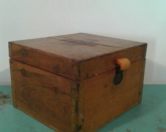 Vintage first aid box , paramedic  wood box, storage box,  home decor