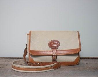 Vintage Dooney & Bourke Rectangular Surrey in Bone All Weather Leather