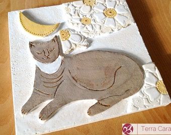 Pet Memorial Plaque - Ceramic Tablet for animals - custom made and personalized