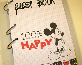 Guest Book, First Birthday, Party Sign in Book, Mickey Mouse Baby Shower, Mickey Guest Book, Mickey Party Supply, Mickey Party Decor