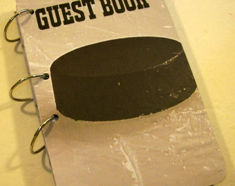 Guest Book, Sign in Book, Golf Party, Hockey Birthday,  Party Sign in Book, Sports Birthday Guest Book, Sports Party Decor