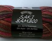 Bamboo Yarn, Wisdom Yarn Saki Bamboo Yarn Bijou Color 106 Lot S692, Striping Yarn