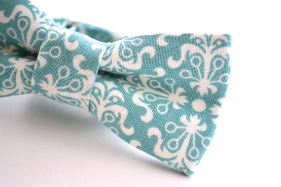 Children's Teal Bowtie, Turquoise Bowtie, Blue Bow Tie, Ringbearer Bow Tie