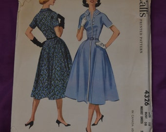 McCalls 4326 - 1950s Dress Pattern SIZE 18