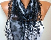 Gray Leopard Print Scarf Teacher Gift Animal Print Shawl Necklace Cotton Wedding Scarves Cowl Gift Ideas For Her Women Fashion