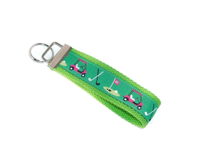 Golf Cart Key Ring - Gift for Golfer - Gift Under 10 - Retirement Gift- Golf Coach Gift