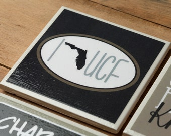 4 UCF Knights Coasters