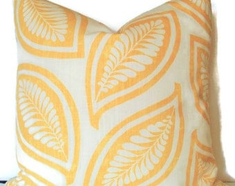 Yellow Pillow Cover Botanical Pillow Cover P Kaufmann Leaf For Ever Gold Yellow Pillow Cover Gold Leaves