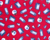 END OF BOLT Half Yard Today's Special Diner Fabric Red Salt & Pepper for ViP Cranston 100% Cotton Quilt Apparel Craft Retro 50's Diner
