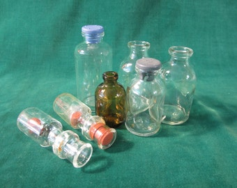Miscellaneous RX Glass Bottles; Lot of 7; IV Bottles