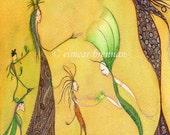 Ériu - Spirit of the Land. Signed limited edition print (Ireland,Erin,goddess of the land, magic of ireland)