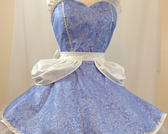 Cinderella Costume Apron, Cosplay Fairy Tale Princess, Disneybound, Woman's Apron