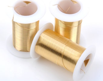 Gold CRAFT WIRE, Tarnish Resistant Craft Wire, wire wrapping, 24 gauge, 24 ga gold wire, Bead Smith Wire, 30 yards (90 feet) spool wir0034
