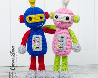 Robby the Robot Amigurumi - PDF Crochet Pattern - Instant Download - Amigurumi crochet Cuddy Stuff Plush