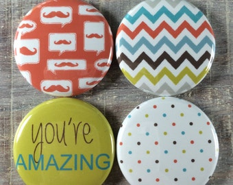 Masculine You're Amazing Flair Flat-Back Buttons