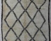 Beni Ourain BO27662   Beniourain, Beniouarain, beni ouarain  vintage berber rug  morocco
