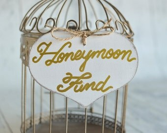 "Large ""Honeymoon Fund"" Sign  for Your Wedding, Bridal Shower, or Bachelor/Bachelorette Party- Your choice of Color. Ships Quickly."