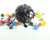 Dungeons & Dragons Large Black Dice Bag Scalemaille And Chainmaille Aluminum - SDB-L-BK
