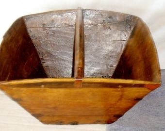 Antique Asian Rice Measuring Bucket