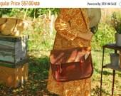 SALE Brown leather messenger bag Bag VINTAGE 70s shoulder Bag UNISEX