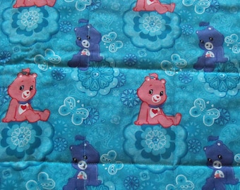 Blue Care Bear! Quilted changing pad