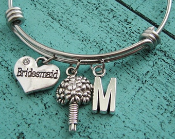 bridesmaid gift, bridesmaid jewelry, unique gift for bridesmaid, personalized bracelet, wedding party gift, bridesmaid bracelet, bridal gift