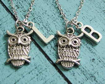 gift for friend, best friend gift, sister gift, friend gifts jewelry, friendship necklace, love owl necklace, mother and daughter gift