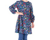 Girls Long Sleeve Every Day Dress Pattern by Anna Vickery - Easy Sewing Pattern - Instant PDF Download - Multi Size Ages 3 - 12 included