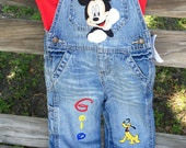 Mickey Mouse Clubhouse Boys Overalls, Boutique Custom Embroidered Overalls, 1st Birthday Overalls, Mickey Mouse Overalls