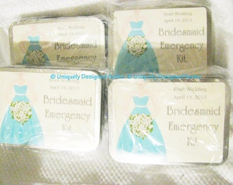 Bridesmaids Gift- Bridesmaids Gifts- Bridesmaids kits- Bridesmaids Emergency kit- Bridal party gift