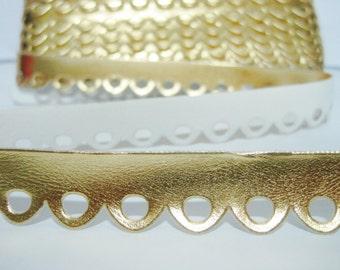 Gold Metallic Scallop Trim, velvet trim, scalloped loop trim, scallop trim, gold trim, metallic trim, gold metallic trim, gold scallop trim